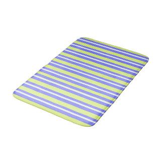 MOD-STRIPES=LIME-BLUE--BED-BATH-GALLEY-RUG'S BATH MAT