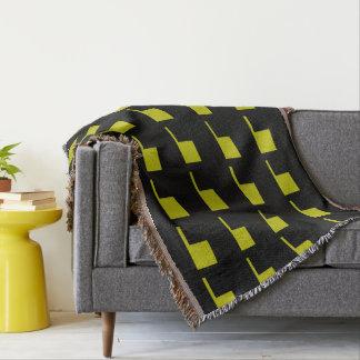 Mod Style Black Gold 4Delia Throw Blanket
