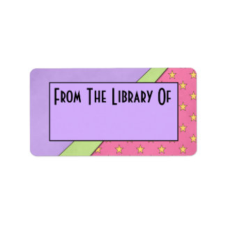 Mod Style Reading Library Of Bookplate Gift Label