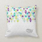 Mod Style Triangle Pattern Triangular Geometric Throw Pillow