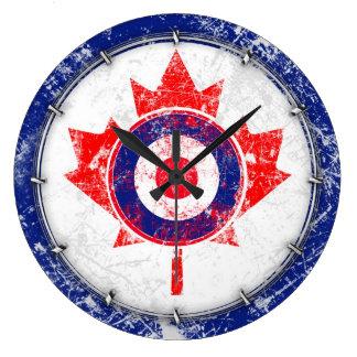 MOD Target Grunge Canada Wild Wall Clock
