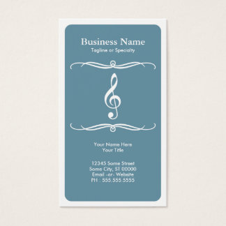 mod treble clef business card