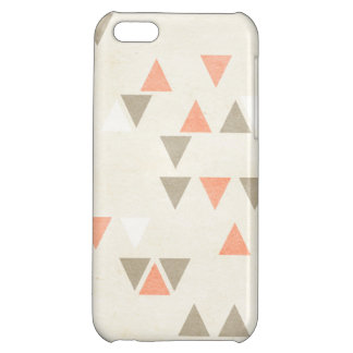 Mod Triangles Coral & Beige Gray Abstract Arrows Case For iPhone 5C
