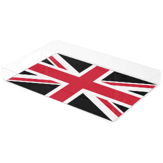 Mod Union Jack ~  Black,Red and White Acrylic Tray