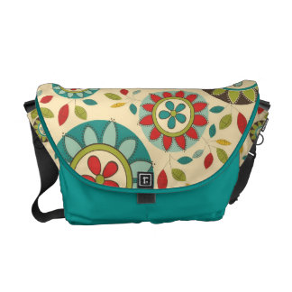Mod Vintage Retro Pop Floral Messenger Bag