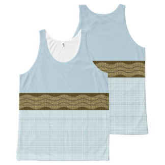 MoD-Wave-Pale-Blue-Plaid(c)Tank-Top All-Over-Print Tank Top