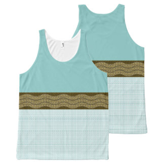 MoD-Wave-Turquoise--Plaid(c)Tank-Top All-Over-Print Tank Top