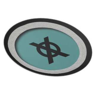 MOD-X-MUSEUM-PRIMITIVE--RAD-STYLE_Teal-Silver Party Plate