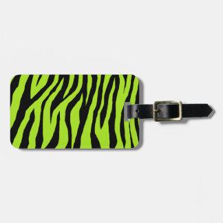 Mod Zebra Print Luggage Tag