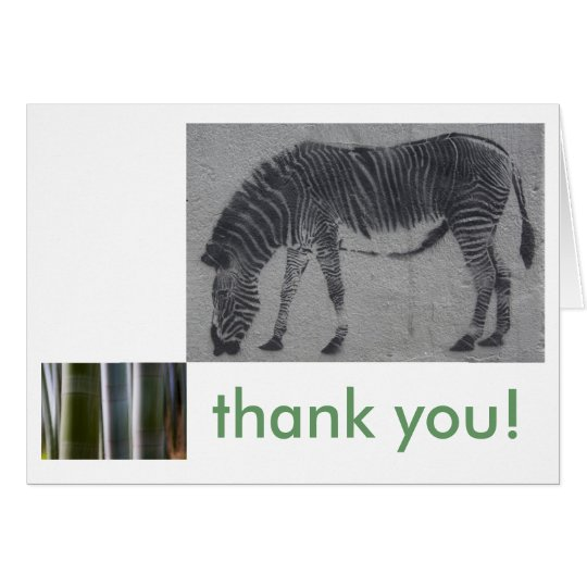 Mod Zebra Thank You Card