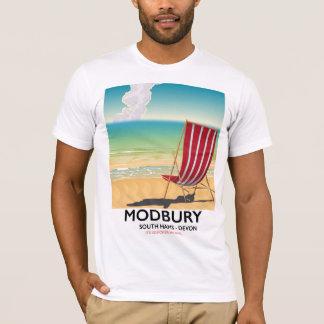 Modbury Devon vintage seaside poster T-Shirt