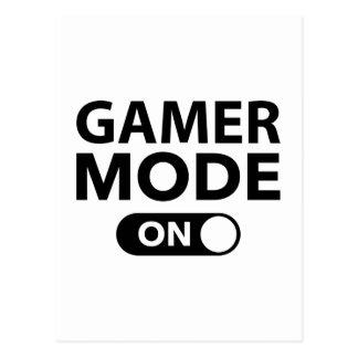 Mode de Gamer dessus Carte Postale