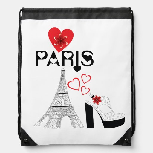 Mode de Paris d'amour Sacs À Dos