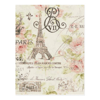 Mode florale girly vintage élégante de Paris Cartes Postales