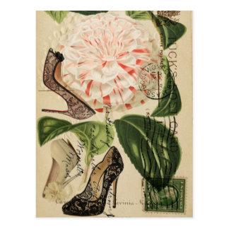 mode girly vintage élégante de Paris Cartes Postales