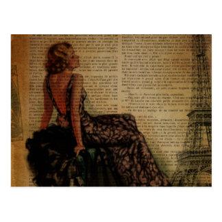 mode girly vintage romantique élégante de Paris Cartes Postales