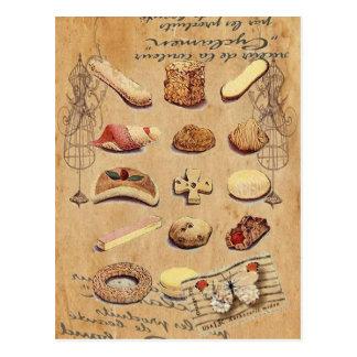 Mode vintage de Paris de biscuits de tentation d'O Carte Postale