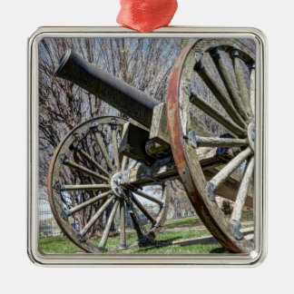 Model 1857 - Napolean Howitzer Silver-Colored Square Ornament
