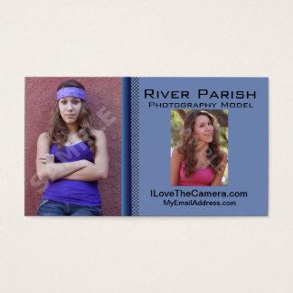 Model Actors Headshot Business Card Template