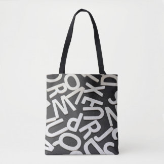 Model bag with letters