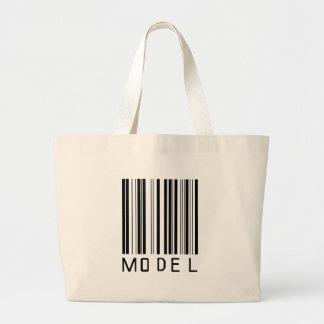 Model Bar Code Large Tote Bag