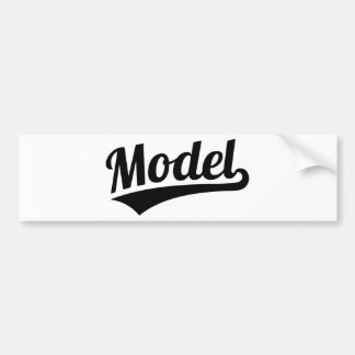 Model Bumper Sticker