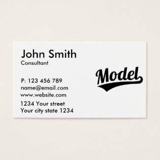 Model Business Card