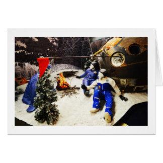 Model Earth landing, Russia Greeting Card