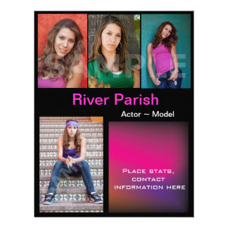 Model Headshot Comp Cards Template