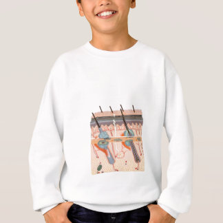 Model human skin tissue on white background sweatshirt
