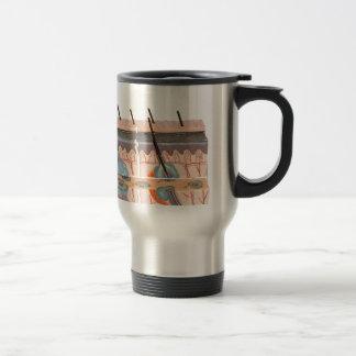 Model human skin tissue on white background travel mug
