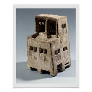Model of a house (limestone) poster