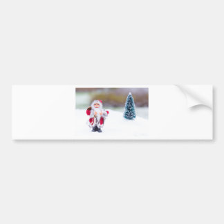 Model of Santa Claus standing in white snow Bumper Sticker
