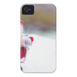 Model of Santa Claus standing in white snow iPhone 4 Cases