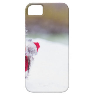 Model of Santa Claus standing in white snow iPhone 5 Cover