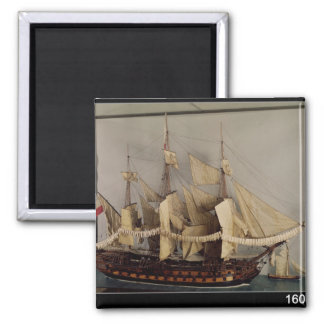 Model of the ship 'L'Achille' Magnets