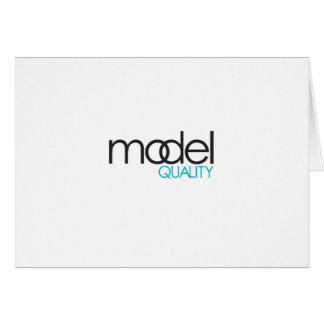 Model Quality Gear Greeting Card