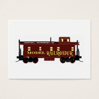 Model Railroad Caboose Business Card