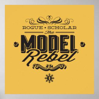 MODEL REBEL Bold Star Poster