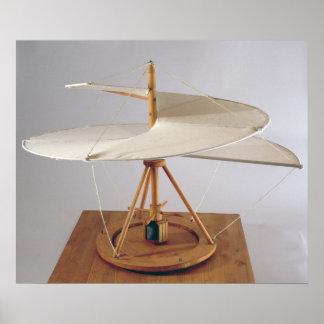 Model reconstruction of da Vinci's design Poster