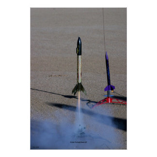 Model Rocket Blast-off Poster