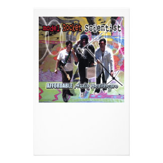 Model Rocket Scientist Affordable audio healthcare Personalized Stationery