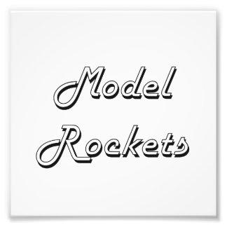 Model Rockets Classic Retro Design Photographic Print