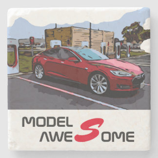 MODEL S - AWESOME STONE COASTER