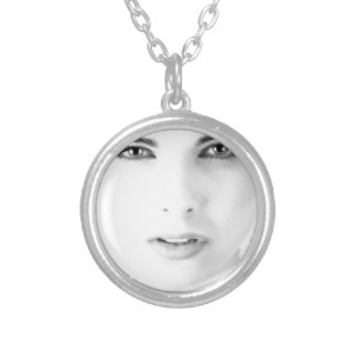 model silver plated necklace