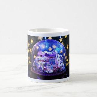 Model snow scene coffee mug