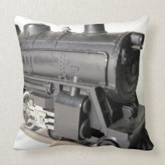 Model Train Engine & Caboose Cotton Throw Pillow