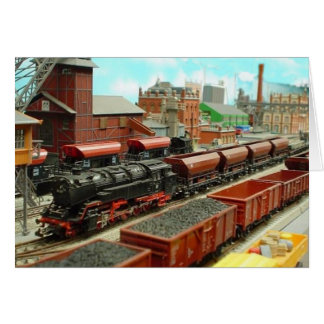 Model Train Station Card