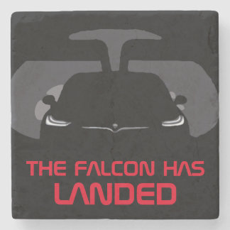 MODEL X - THE FALCON HAS LANDED STONE COASTER