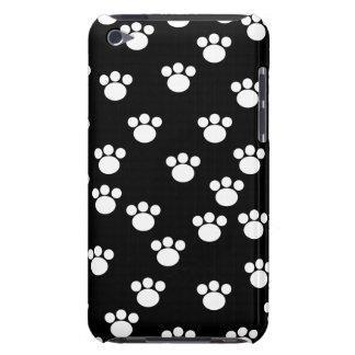 Modèle animal noir et blanc d'empreinte de patte coques iPod touch